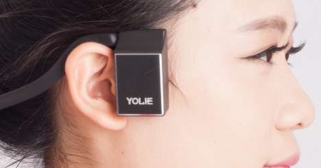 Open-Ear Conduction Headphones - The 'Y-BoneTouch' Bone Conduction Headphones are Streamlined