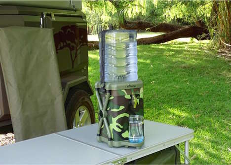Water-Filtering Dispensers - The Little Luxury Portable Water Cooler Filters and Chills Water