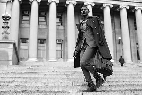 Dapper Street Style Portraits - Mescole Photography's Latest Feature Highlights Monochromatic Images