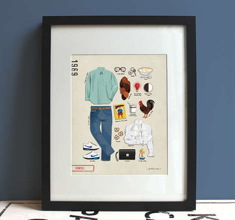 Pop Culture Fashion Diagrams - Etsy's BeautifulPeaceShop Celebrates Television and Film Wardrobes