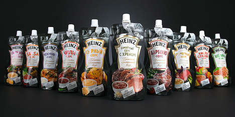 Squeezable Ready-Made Sauces - Heinz Uses Doypack Pouches for Cost and Convenience