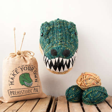 Knitted Taxidermy Kits - These Faux Taxidermy Creations are Inspired by Wildlife