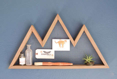 Minimalist Mountain Shelving - Etsy's Bourbon Moth Shop Specializes in Handcrafted Storage Units