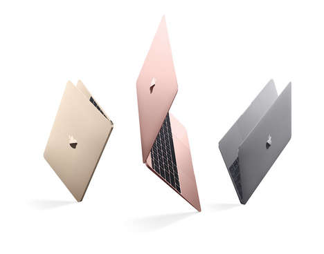Pink-Colored Laptops - Apple Annouces a Rose Gold Macbook for Added Consumer Options