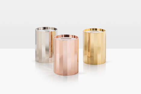High-End Brass Piggy Banks - The Himitsu Money Boxes are Crafted from Bronze and Brass