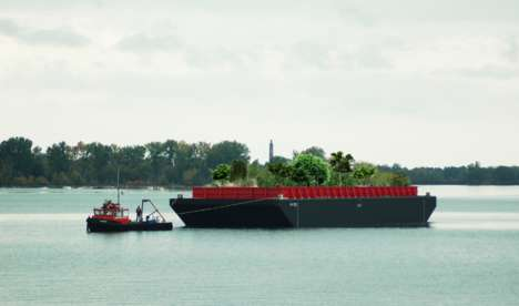 Floating Urban Forests - 'Swale' is a Floating Barge Topped with an Edible Forest Garden