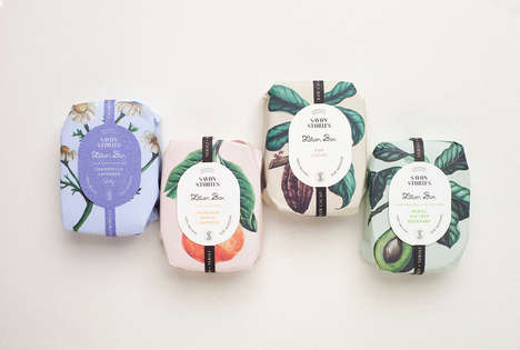 Heirloom Soap Branding - This Menta Soap Packaging is Reflective of the Beauty Product's Ingredients
