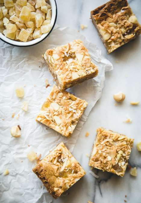 Cocktail Blondie Recipes - This Pina Colada Blondies Recipe are Great for Getting Caught in the Rain