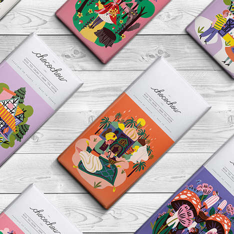 Fairytale Chocolate Branding - Choco Chou's Brand Identity References Iconic Storybook Imagery
