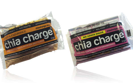 Compact Chia Sport Bars - The Chia Charge Food Bar Can be Consumed While Running