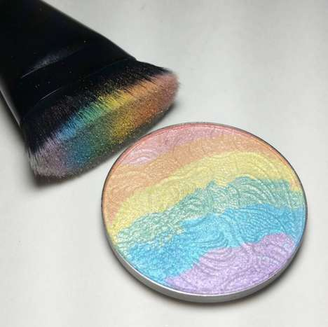 Colorful Skin Illuminators - The PRISM Rainbow Highlighter is From Bitter Lace Beauty on Etsy