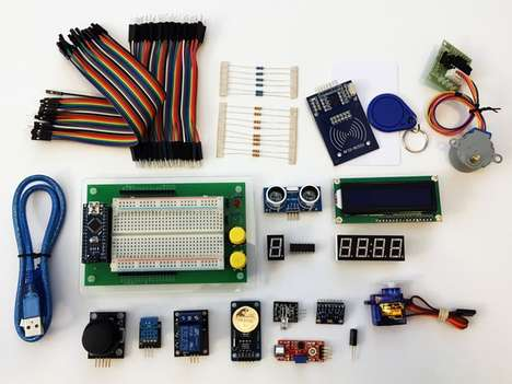 Educational Programming Kits - The Arduino Learning Board Has Over 15 Mini Projects to Perform