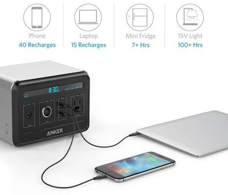 Technology-Focused Portable Chargers - The Anker Powerhouse Features a 120,600 mAh Battery Pack