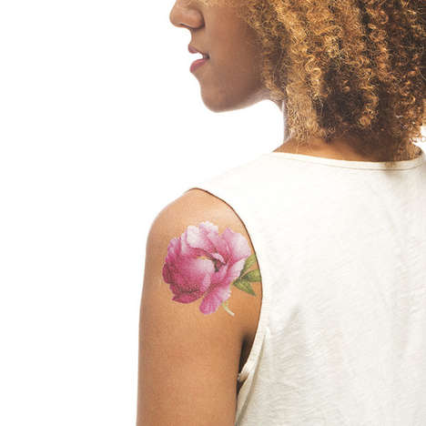 Scented Floral Tattoos - Tattly's Temporary Flower Tattoo Collection Gives Off a Fresh Fragrance