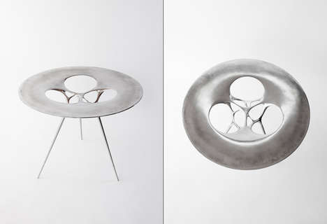 Strangely Chic Side Tables - The Gueridon Ex09 by Il Hoon Roh Has an Alienesque Quality
