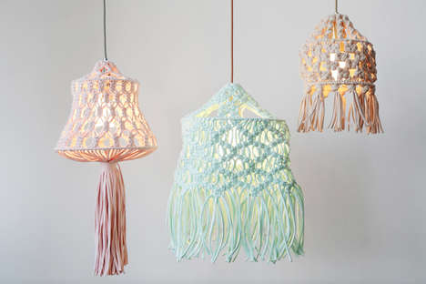 DIY Macrame Lampshades - Plumen Teams Up with Wool and the Gang for a Fun Lighting Kit