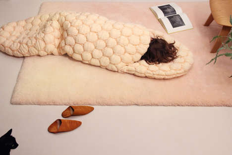3D-Knitted Sleeping Bags - The Laying Bag Changes Color Over Time to Reveal Different Patterns