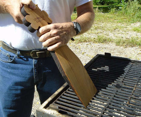 Natural Bristle-Free Grill Cleaners - The Leprekald Wooden Grill Scraper is Coated with Olive Oil
