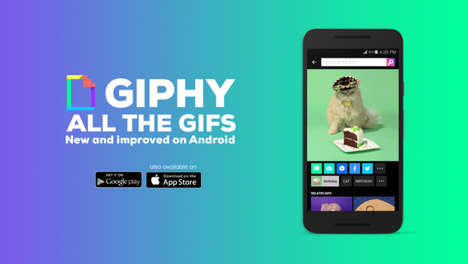 GIF-Finding Platforms - Giphy Recently Launched a Full-Fledged App for Android Devices
