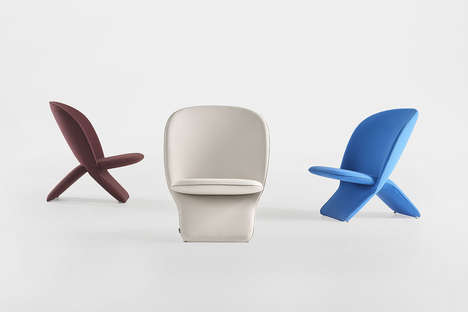 Chic Cartoonish Chairs - Niloo by Khodi Feiz Boasts a Simple Two Piece Design