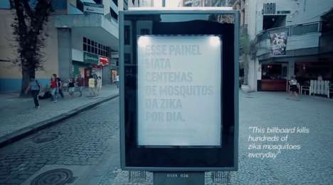 Mosquito-Killing Billboards - This Outdoor Billboard is Equipped with Panels to Kill Zika Mosquitoes
