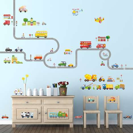 Play-Oriented Wall Decals - The Decowall Wall Sticker Set Lets Kids Play without Damaging Surfaces