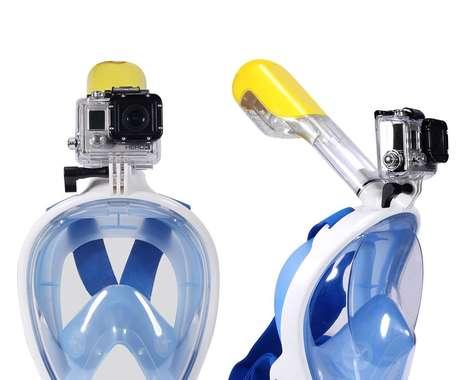Camera-Embedded Snorkel Masks