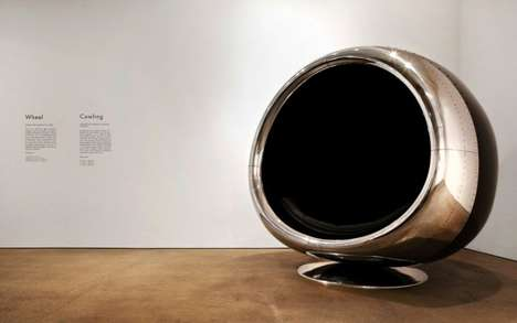 Aviation Egg Chairs - The 737 Cowling Chair is Created Using Upcycled Aircraft Parts