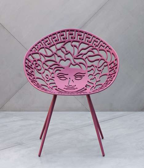 Fashion Logo Furniture - This High-Fashion Chair by Versace Brings the Brand's Style to Home Decor