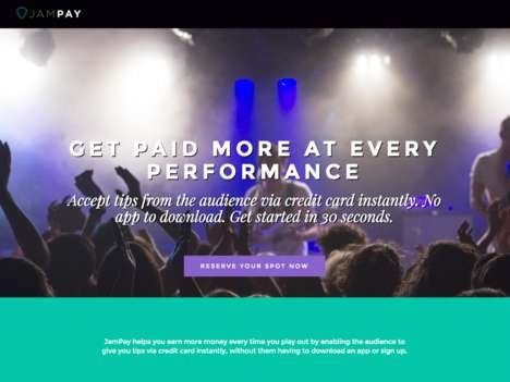 Musician-Tipping Platforms - 'JamPay' Helps Performers Earn More at Each Concert They Play