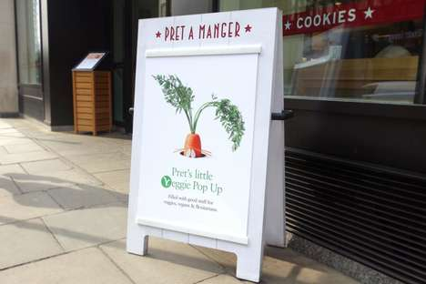 Vegetarian Offshoot Pop-Ups - Pret a Manger is Experimenting with a Meat-Free Restaurant Concept