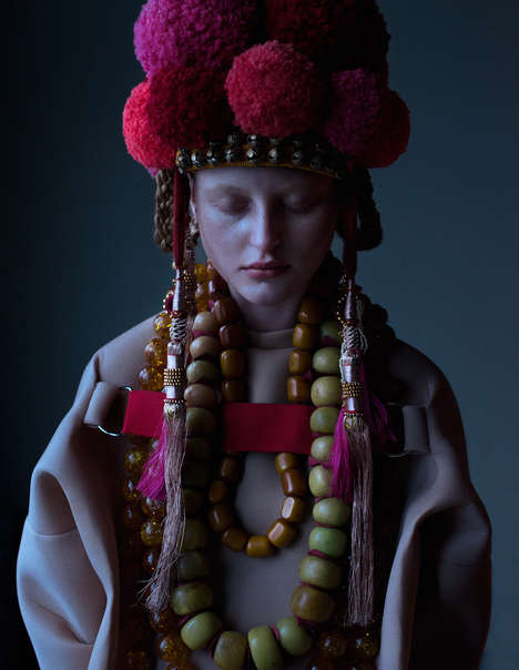 Darkly Ornate Editorials - EIKON by Elizaveta Porodina is a Photo Shoot for OE Magazine