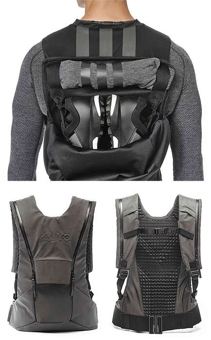 Sporty Vest Backpacks - The Y-3 Activity Knapsack Features a Sleek Shape and a Concealed Camelbak