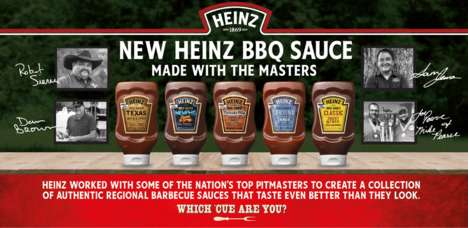 Locally-Inspired BBQ Sauces - The New Heinz BBQ Sauces Were Created by Top Pitmasters