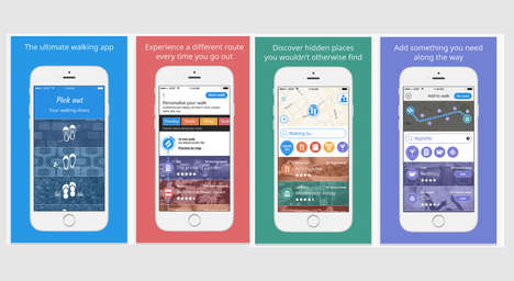 Interest-Based Navigation Apps - Walking App Sidekix Helps You Discover New Places En Route