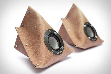 Recycled Leather Speakers - The Giacinto Sound System Comes Flat-Packed for Consumers to Build