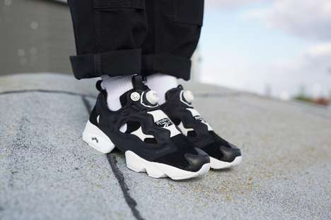 Inflatable Lace-Free Sneakers - The OFFSPRING x Reebok Instapump Shoes Fasten Using a Pump System