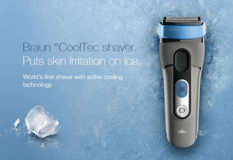Cooling Electric Shavers - Braun's CoolTech Razors Use Cooling Technology to Reduce Razor Burn