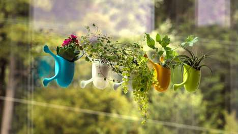 Window-Hugging Planters - The 'Livi' Plant Planter Features Micro-Suction Arms to Keep it Affixed