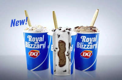 Center-Filled Ice Creams - The New Royal Blizzards Feature a Hidden Sauce-Filled Center