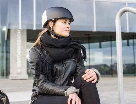 Stylish Protective Bike Helmets - The 'HEL' Bicycle and Skate Helmet is a Chic Way to Stay Safe
