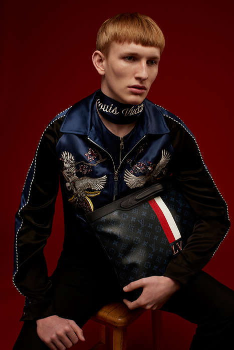 Exotic Streetwear Editorials - Hunger Magazine's Latest Issue Spotlights Louis Vuitton Menswear
