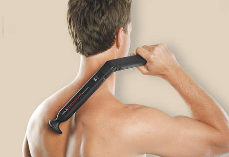 Electric Back Shavers - Rechargeable Back Shaver Tackles Hair on the Shoulders, Upper and Lower Back