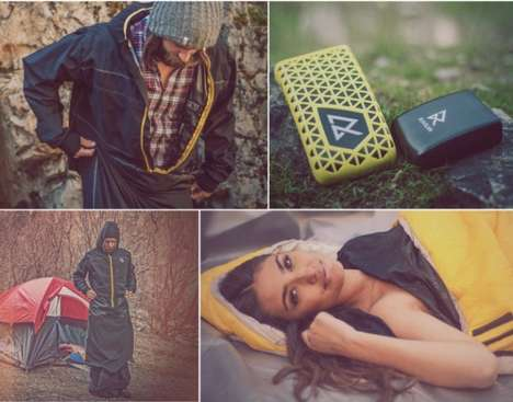 Phone-Charging Sleeping Bags - The Raven Cold Weather Sleeping Bag is Heated for Optimal Comfort