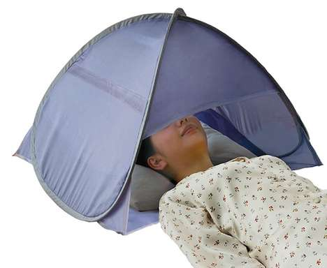 Anti-Aging Indoor Tents - The Sleeping Dome Head Tent Prevents Skin from Drying Out During Rest