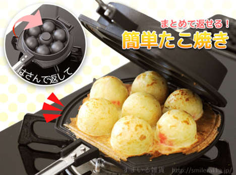 Spherical Food Breakfast Makers - The Flip-Over Takoyaki Maker Prepares Bite-Sized Breakfast Meals