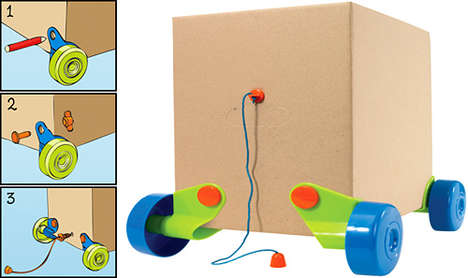 15 Creative Cardboard Toys - From DIY Drawing Robots to Prefabricated Playgrounds