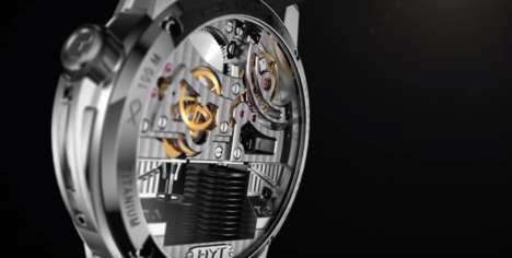 Liquid-Reading Watches - The H1 Ghost Watch Lets You Tell the Time Through a Liquid-Filled Tube