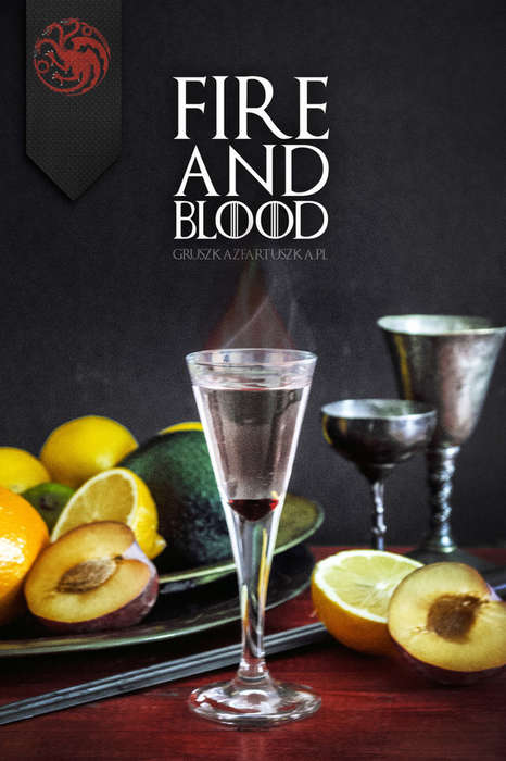 Cinematic Fantasy Cocktails - These Upscale Drinks Celebrate the Houses From Game of Thrones