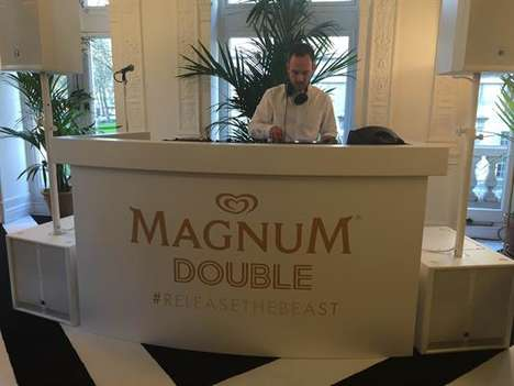 Multi-Room Dessert Parties - Magnum's London Ice Cream Party Includes Drinks, Sweets and Music